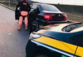 Homem é detido com veiculo roubado e armas na BR-116 | Foto: Divulgação | PRF