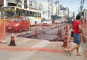 Circulação de carros de passeio é liberada em área de obra na Paulo VI | Foto: Tiago Caldas