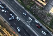 Colisão entre três veículos deixa transito congestionado na Av. Garibaldi | Foto: Cidadão Repórter | Via Whatsapp