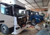 Galpão para desmanche de caminhões roubados é desmontado em Conquista | Foto: Divulgação | SSP-BA