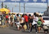 Movimento de saída de Salvador pelo ferry é intenso nesta quinta | Foto: Raul Spinassé | Ag. A TARDE