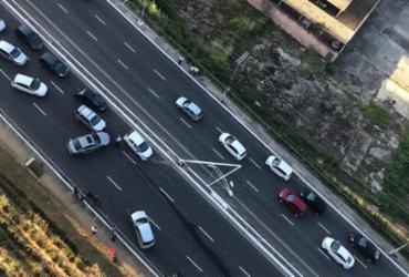 Colisão entre três veículos deixa transito congestionado na Av. Garibaldi | Cidadão Repórter | Via Whatsapp