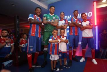 Com marca própria, Bahia lança novos uniformes na Fonte | Tiago Caldas | Ag. A TARDE
