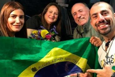 Kaysar comemora vinda da família síria para o Brasil: 'Graças a Deus' | Reprodução | Instagram