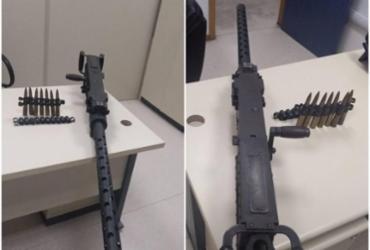 Metralhadora é um 'canhão' capaz de partir um veículo ao meio | Divulgação | Polícia Civil