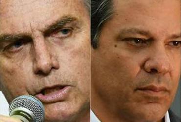 Ibope: Bolsonaro oscila de 26% para 28% e Haddad cresce de 8% para 19% | AFP
