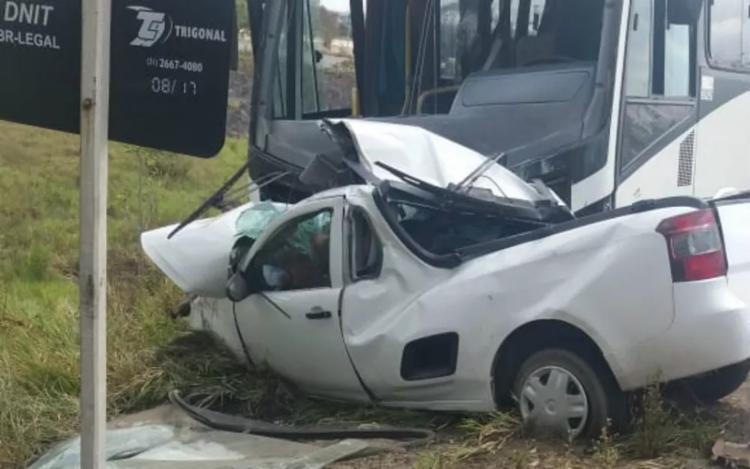 Acidente aconteceu nesta quinta-feira, 27, na BR-110 - Foto: Marcus Aragão | Aragão Notícias