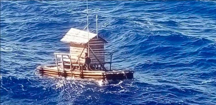 Adilang foi resgatado no dia 31 de agosto perto da ilha de Guam - Foto: Reprodução