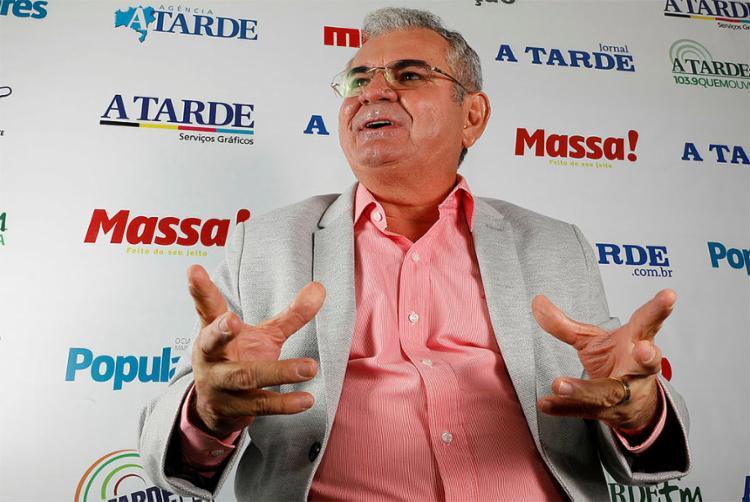Ângelo Coronel, candidato ao Senado pelo PSD - Foto: Margarida Neide l Ag. A TARDE l 4.9.2018