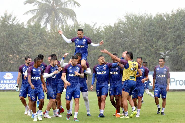 O próximo confronto do Esquadrão será no domingo, 16, na Fonte Nova, contra o Palmeiras, às 16h - Foto: Felipe Oliveira | EC Bahia