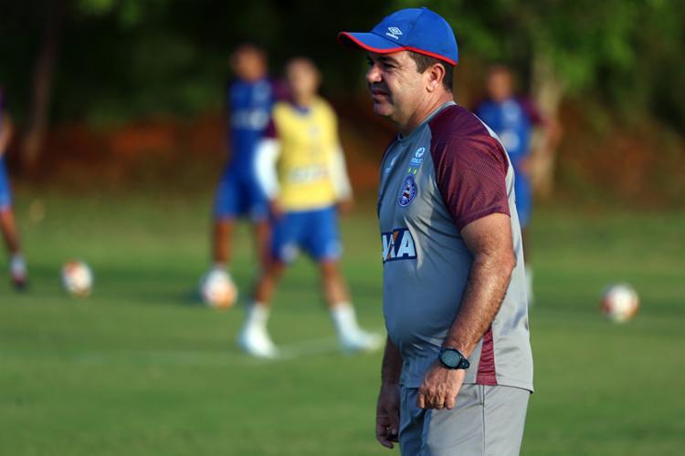 Para avançar na Sul-Americana, treinador diz contar com o apoio da torcida na Fonte - Foto: Felipe Oliveira   EC Bahia
