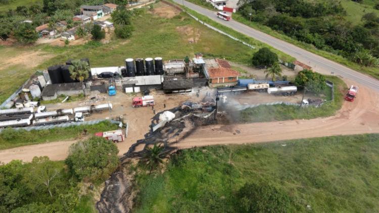 O acidente aconteceu no domingo, 2, no estacionamento da Biotank - Foto: Divulgação l SSP-BA