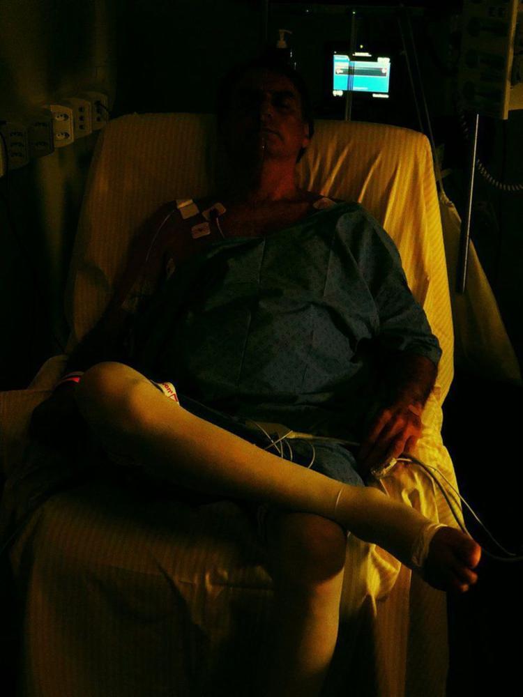 Candidato passa agora para uma unidade de cuidados semi-intensivos - Foto: Reprodução | Twitter