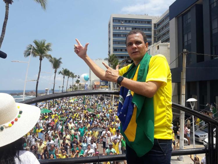 Capitão Cláudio Silva é o coordenador do evento deste domingo em Salvador