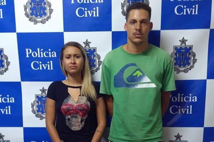 Vanaildo Alves de Almeida e Laemyle Silva Nascimento, presos em flagrante por tráfico de drogas - Foto: Divulgação | Polícia Civil