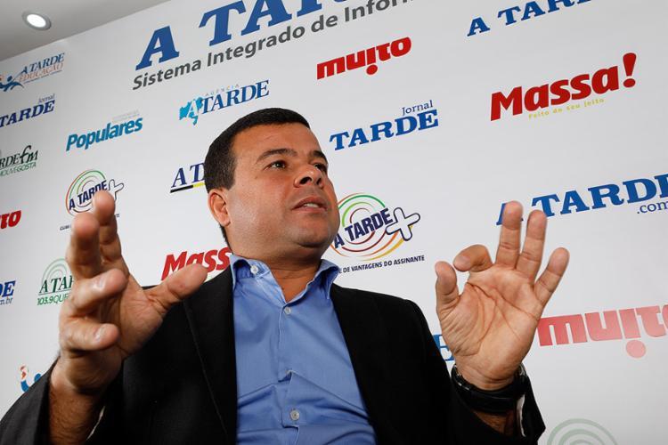 Celsinho Cotrim, candidato ao Senado pelo PRTB - Foto: Margarida Neide l Ag. A TARDE l 4.9.2018