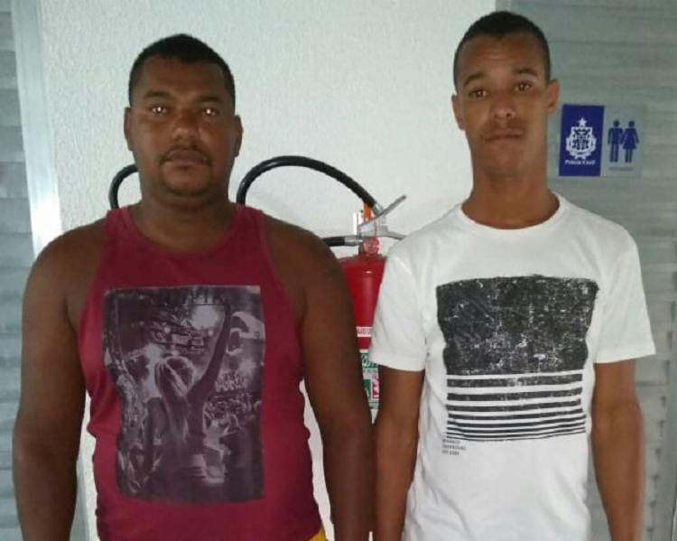 José do Carmo e Maurício Ferreira foram localizados pela polícia no bairro do Lobato - Foto: Divulgação
