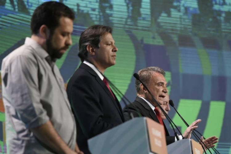 Haddad foi questionado sobre denúncias de corrupção envolvendo petistas - Foto: Gustavo Cabral | A12