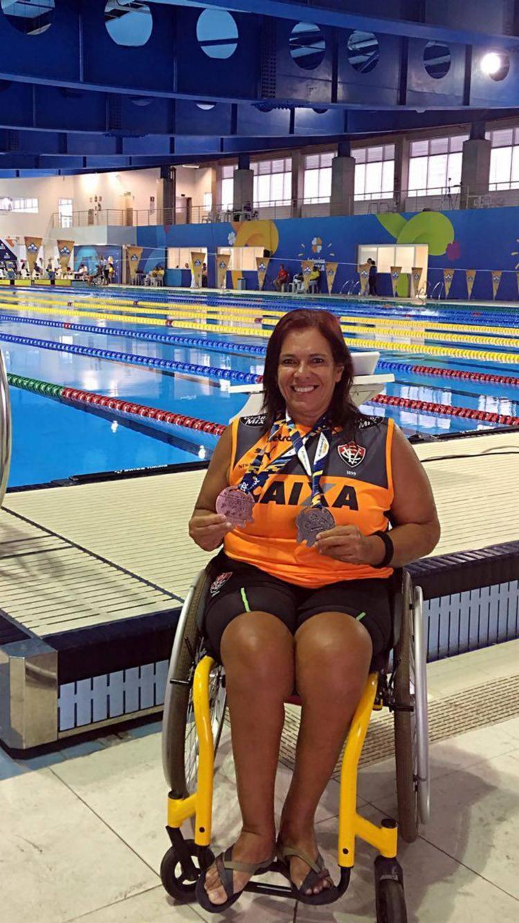 Mônica Veloso é uma das principais atletas paraolímpicas da Bahia - Foto: Arquivo Pessoal