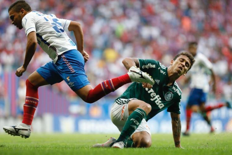 Palmeiras conseguiu empatar a partida no segundo tempo - Foto: Margarida Neide | Ag. A TARDE