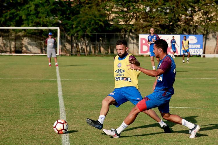 Equipe retornam ao CT para mais um treino nesta terça-feira - Foto: Felipe Oliveira | Divulgação | E. C. Bahia