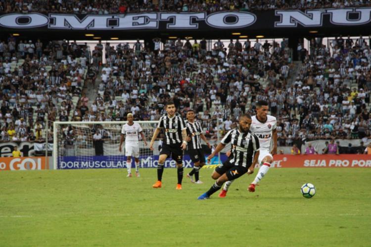 Leão foi dominado pelo Vozão na Arena Castelão - Foto: Divulgação   E. C. Vitória