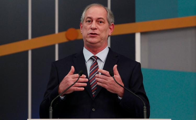 Ciro criticou o PT por só ter anunciado Haddad no lugar do ex-presidente Lula nesta terça-feira, 11 - Foto: Miguel Schincariol   AFP