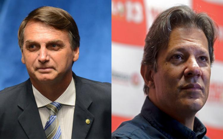 Nas simulações de segundo turno, Bolsonaro passou a perder para todos os adversários, com exceção de Marina Silva (Rede) - Foto: AFP Photo