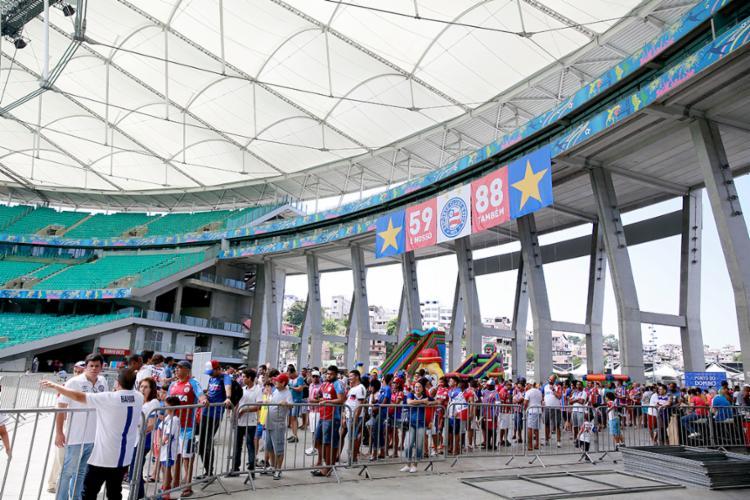 Os torcedores do Tricolor também serão contemplados nas vantagens do novo vinculo - Foto: Felipe Oliveira | EC Bahia