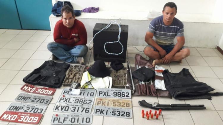 José Aldson de Souza e Antônio Márcio Silva foram presos em flagrante