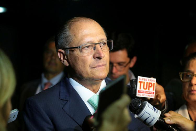 Alckmin vem sendo criticado pelos adversários por ter firmado uma aliança com os partidos do Centrão - Foto: Alexssandro Loyola | PSDB