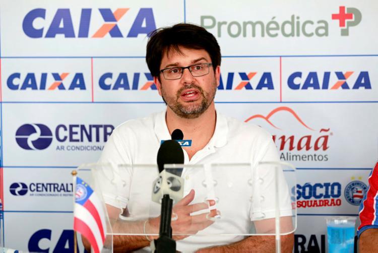 Guilherme Bellintani admite queda no faturamento do tricolor baiano - Foto: Felipe Oliveira | EC Bahia