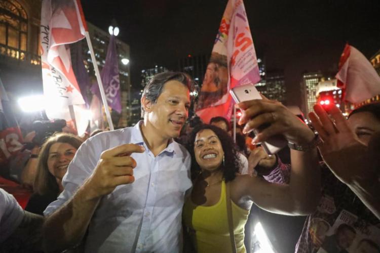Candidato petista fez sinalizações ao eleitorado feminino durante evento - Foto: Reprodução   Facebook   Fernando Haddad