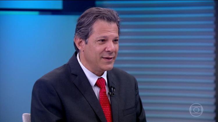 Para Haddad, o crescimento nas pesquisas não se deve apenas à indicação de Lula - Foto: Reprodução | TV Globo