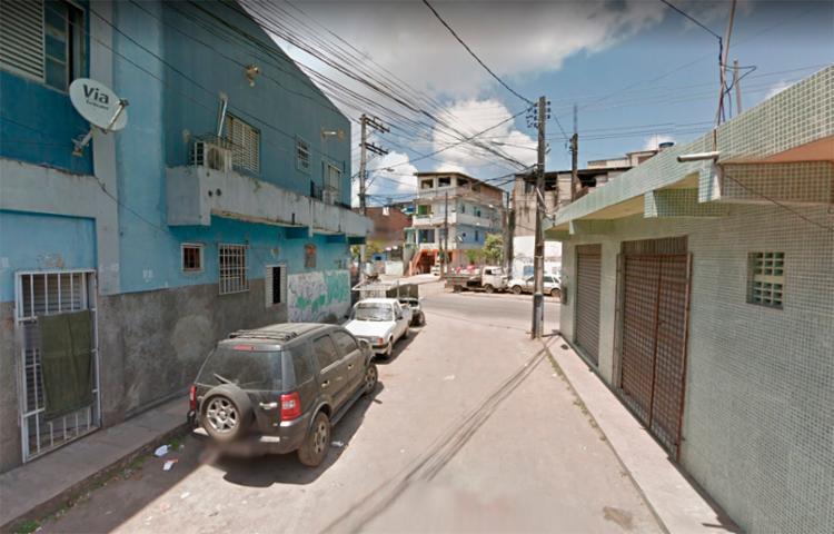 Último crime letal do domingo foi registrado no Conjunto Santa Luzia, no Uruguai, em Salvador - Foto: Reprodução   Google Street View