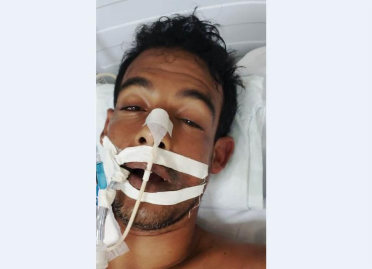 O enfermo é Edcarlos Alves Mota que foi socorrido pelo Samu na última segunda-feira - Foto: Divulgação
