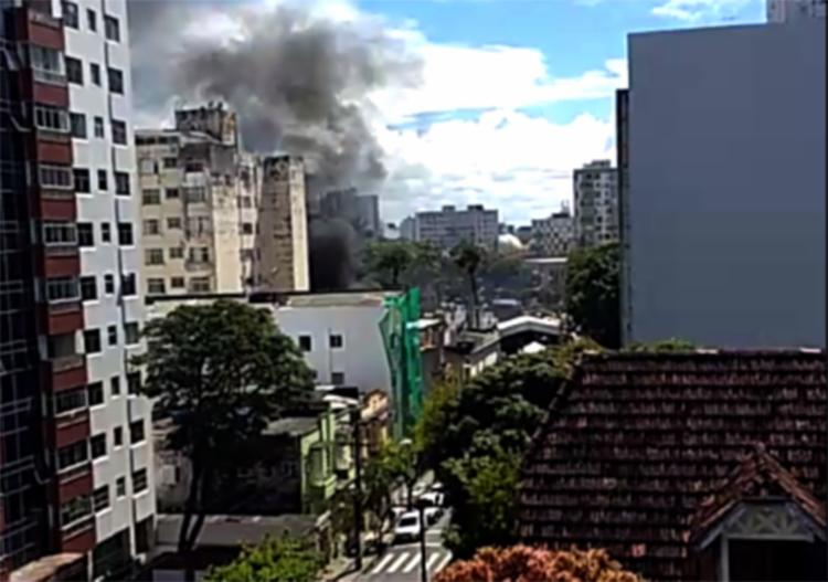 O incidente aconteceu por volta das 10h20, na região do Campo Grande - Foto: Cidadão Repórter l Via Whatsapp