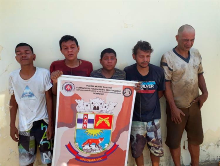 Polícia chegou até o esconderijo do grupo após uma denúncia anônima - Foto: Divulgação | SSP-BA