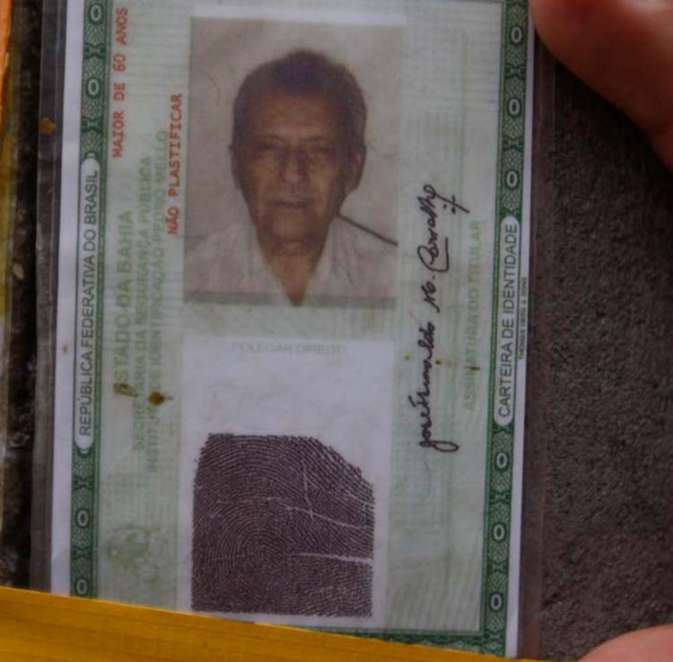 José Hunaldo Moura de Carvalho, 85 anos, costumava dormir no local - Foto: Luciano da Matta | Ag. A TARDE