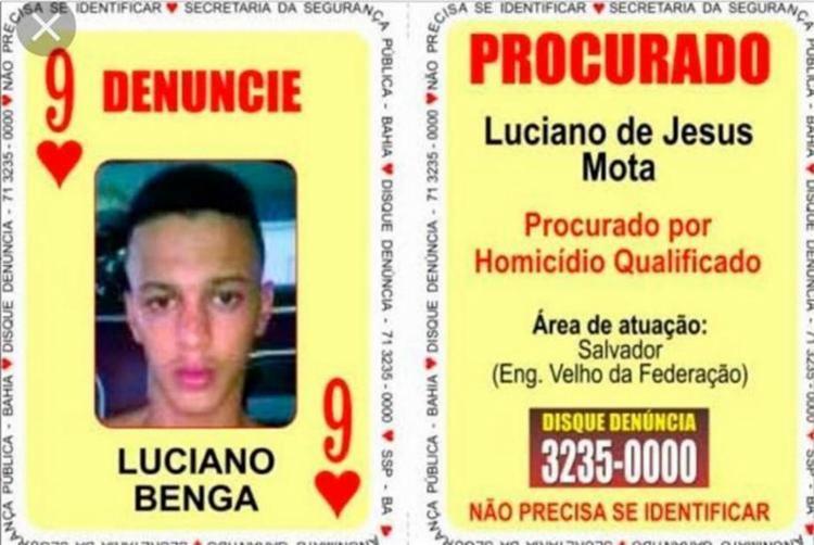 Luciano é apontado como autor de diversos homicídios contra rivais do tráfico e usuários de drogas - Foto: Divulgação l SSP-BA