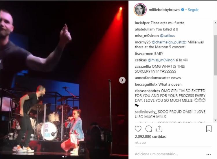 Atriz postou o vídeo da apresentação nas suas redes sociais e recebeu elogios dos fãs - Foto: Reprodução  Instagram