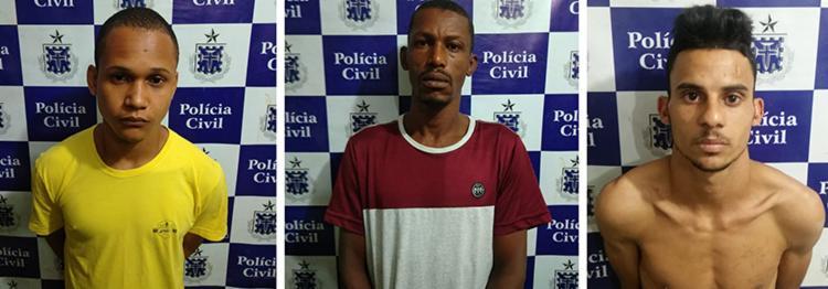 Os suspeitos foram detidos com porções de maconha e crack e um simulacro de pistola - Foto: Divulgação | SSP-BA