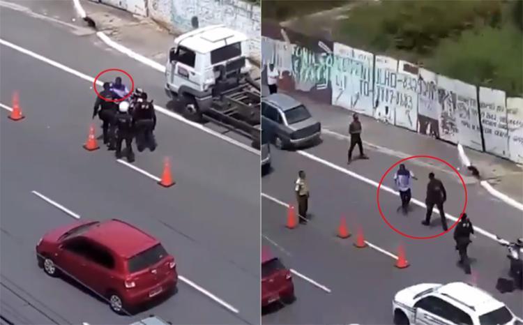 Caso aconteceu durante blitz da Transalvador, na Rua Alfazema, no Caminho das Árvores - Foto: Reprodução l Instagram l @jornalatarde