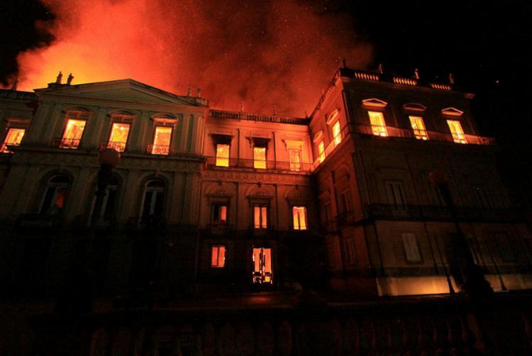 Um incêndio consumiu as instalações do museu, o mais antigo do País - Foto: Jose Lucena | Estadão Conteúdo