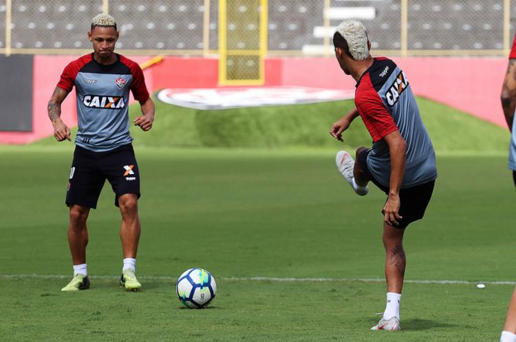 Artilheiro do Leão, Neilton retorna ao time após cumprir suspensão automática contra o Fluminense - Foto: Maurícia da Matta l EC Vitória