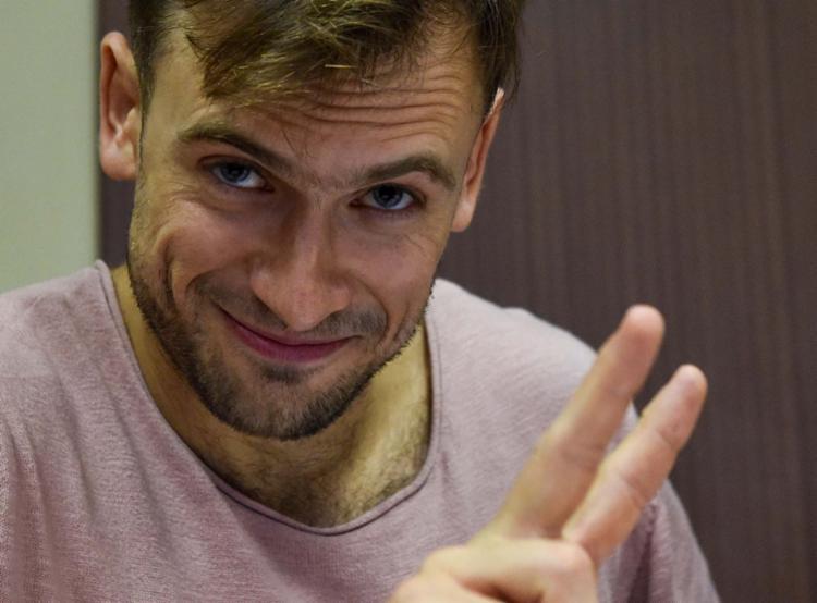Piotr Verzilov começou a passar mal na terça-feira à tarde - Foto: Vasily Maximov   AFP