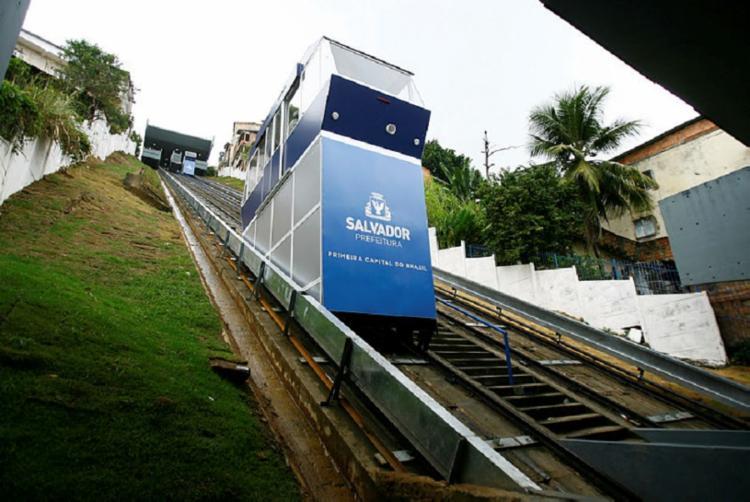 O percurso é realizado em um minuto e 40 segundos, e terá tarifa gratuita - Foto: Joá Souza   Ag. A TARDE