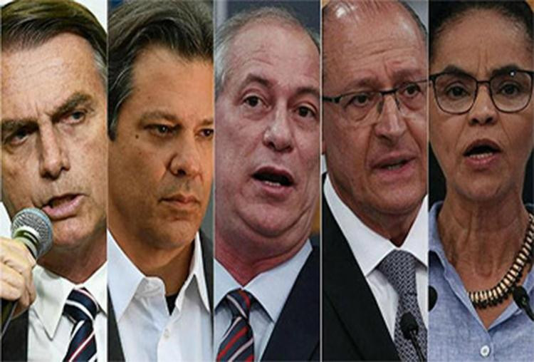 Ciro oscilou de 12% para 11% e Alckmin manteve 8%; Marina passou de 6% para 4% - Foto: Reprodução