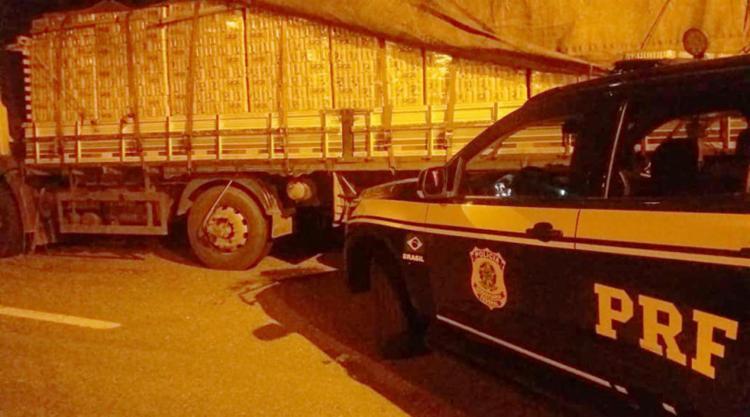 A carga de cerveja foi encaminhada à Secretaria da Fazenda do Estado da Bahia (Sefaz) - Foto: Divulgação | PRF
