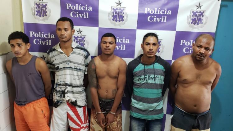 Presos faziam parte de duas facções criminosas que atuam no município - Foto: Alberto Maraux   Divulgação   SSP-BA
